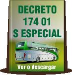 decreto 174 01 especial
